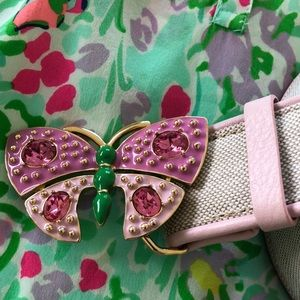 Lilly Pulitzer M Butterfly Belt